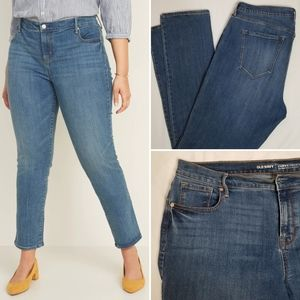 OLD NAVY Mid-Rise Curvy Straight Jeans 14L